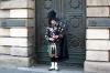 Sækkepibespiller i Edinburgh