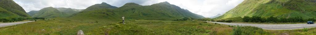 Panoramabillede taget på vejen fra Fort William til Glasgow