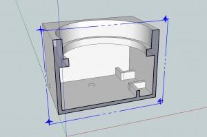 3D modellen indefra