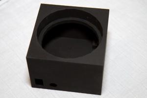 Den nøgne model lige fra 3D printeren
